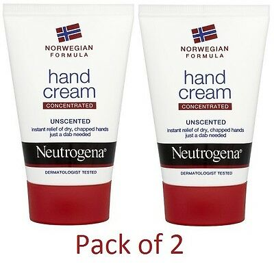 Neutrogena Unscented Concentrated Hand Cream (50ml) [PACK-Of-2]