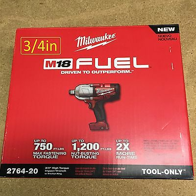 Milwaukee 2764-20 M18 volt 3/4 Fuel High Torque Impact Wrench w/ ring BRAND NEW