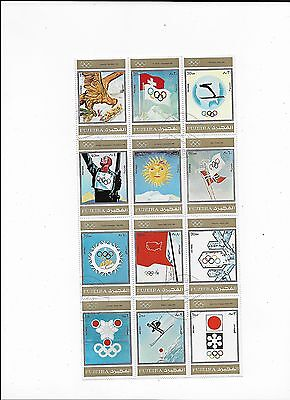 Sheet of Sports Topical Stamps from Fujeira (UAE) Oylimpic Games (Lot5)