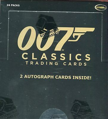 James Bond Classics 2016 WAX CARD BOX Factory Sealed 2 Autograph Cards