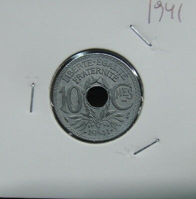 448# Frankreich - 10 Centimes 1941  Km#897  Nice Coin