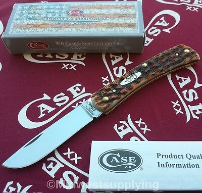 Case XX 245 Special Features Sod Buster Jr Pocket Knife Amber Bone New in Box