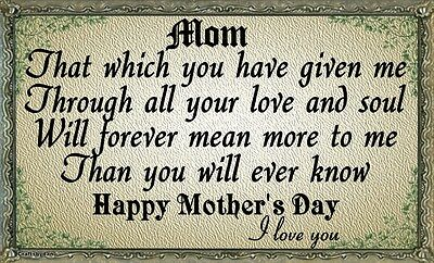 LT-1222 Personalized Thank You Gift For Mom From Daughter The Mother I Will...