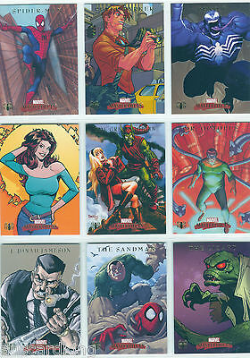 Marvel - Masterpieces 2007 - Complete Chase Card SET (9) - Spider-Man - NM