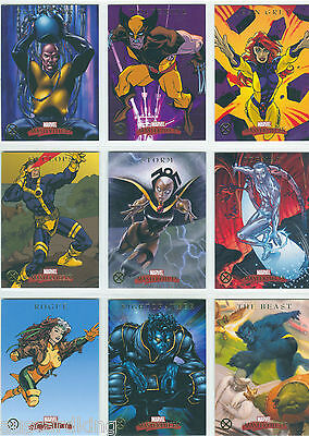 Marvel - Masterpieces 2007 - Complete Chase Card SET (9) - X-Men - NM