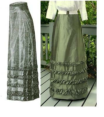 Antique Sewing Pattern~1912 Edwardian Taffeta Skirt ~ MULTI SIZE~ Lovely details