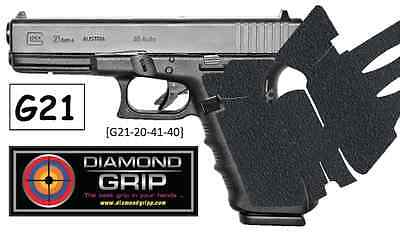 NEW! Diamondgripp Glock [21 21SF 20 41 40] Silicone-Rubber Grip Tape *FAST SHIP*