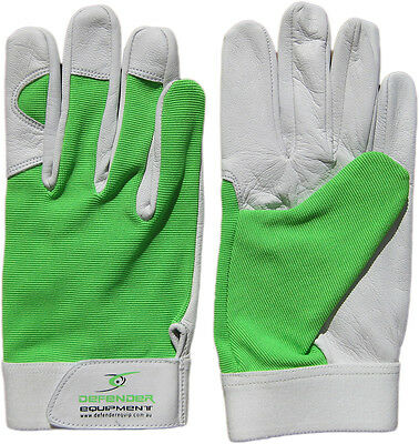 Garden Gardening Gloves Soft Leather Green