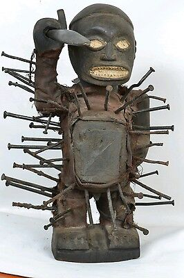 Bakongo Nkisi Power Nail Figure Fetish from DR congo Africa