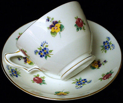 Crown Staffordshire Tea Cup & Saucer