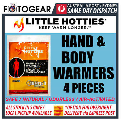 Little Hotties Hand & Body Warmers 4 Pack Heat Pack 18 Hours Sport Hot Socks