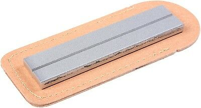 """EZE-LAP 36F Diamond Knife Sharpener """"1 x 4"""" Fine 600 Grit Leather Pouch Included"""