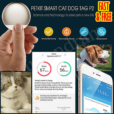 PETKIT P2 Health Monitor tag For Dog Pet Cat Cats Activity Sleep Food Worming