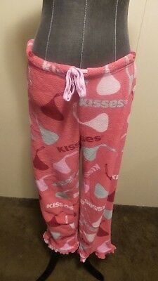 *Hersey Kisses* Wmn's S 4-6 Pink Pull-on Microfiber Candy Ruffle Pajama Pants