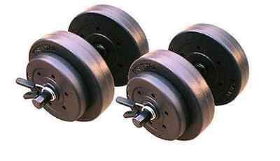 Gold's Home Gym Vinyl Dumbbell Set, 40 lbs. Adjustable Weights, Fitness Workouts