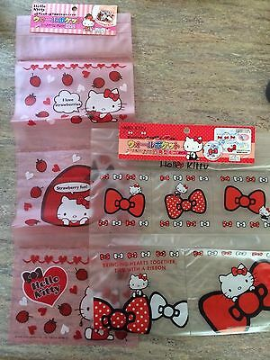 Hello Kitty! 2 Set Of Transparent Wall Pockets. Pink And White.