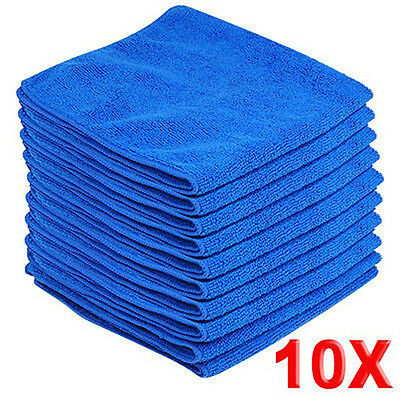 10X Microfibre Cleaning Auto Car Detailing Soft Cloths Wash Towel Duster 20*20cm