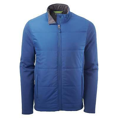 Kathmandu Ohau Mens Windproof Zip Up Warm Winter Fleece Jacket Blue