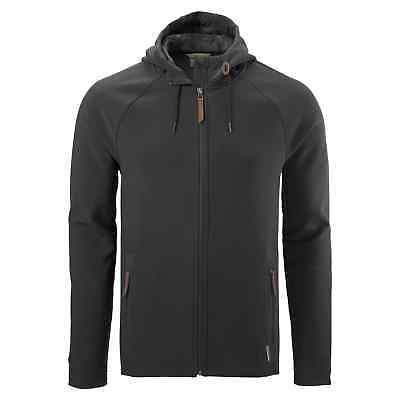 Kathmandu Malazan Mens Water Resistant Hooded Softshell Fleece Jacket v4 Black