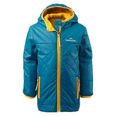 Kathmandu Bosley Kids Boys Hooded Water Repellent Insulated Winter Jacket Blue