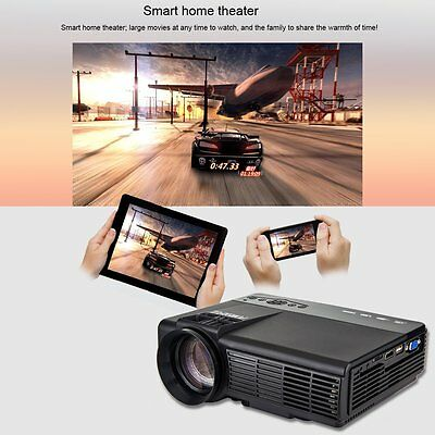 2500Lumens 1080p HD Multimedia LCD LED Projector Home Cinema Theater HDMI USB AV