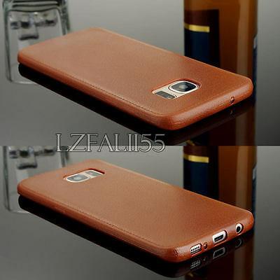 Luxury Ultra-thin PU Leather Soft TPU Back Case Cover For Samsung Galaxy Models