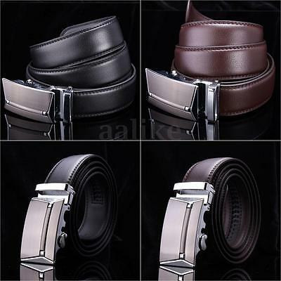 Men's Waist Strap Genuine Leather Business Office Automatic Buckle Belt Fomal