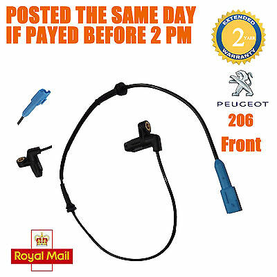 1x Peugeot 206 Estate convertible Fit Front Left Right ABS Wheel Speed Sensor