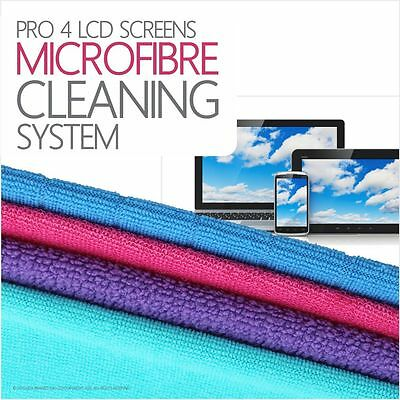 Pro 4 Microfibre LED Screen Cleaning Cloths Set Rinse and reuse 100's of times