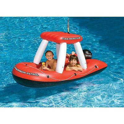Swimline Fireboat Squirter Inflatable Pool Toy Kids Float Beach Water Summer New