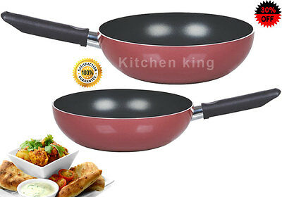 Imperial Non Stick Wok Stir fry Deep Frying Pan with Long Handle 24/26/28/30 cm