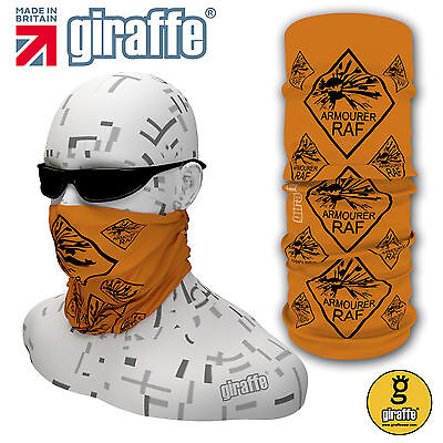 RAF Armourers orange Multifunctional Headwear Neckwarmer Snood Headband