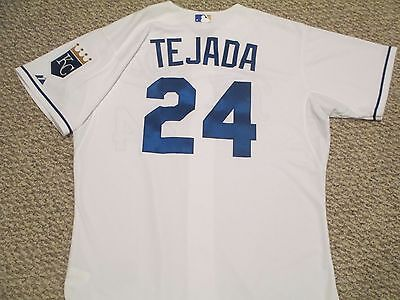 MVP Miguel Tejada 2013 Royals Game jersey issued Home White size 48 #24 Final yr