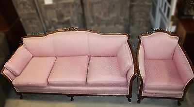 Antique French Provincial Style Sofa and Bergère Chair SET