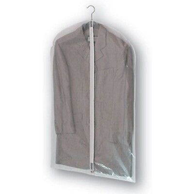 """Clear Strong PEVA zip up SUIT COVER carrier travel dress bag garment 40 x 23"""""""