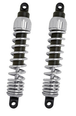 "Progressive Suspension - 444-4019C - Chrome 12.5"" 444 Series Heavy Duty Shocks"
