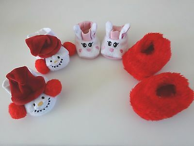 """NEW-DOLL SLIPPERS [3 PAIRS] fit 18"""" Dolls such as American Girl Dolls - LOT #162"""