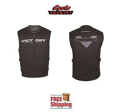 Victory Brand Mens Motorcycle Tactical Vest Polyester Black New Free Shipping