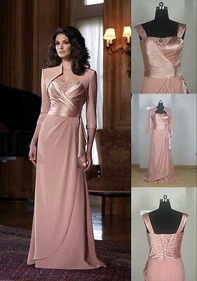 Free Jacket Pink Mother of the Bride Dress Women Formal Evening Wedding Party