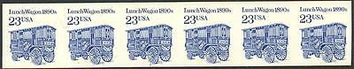 """#2464a """"LUNCH WAGON"""" IMPERF PLATE #3 STRIP OF 6 ERROR (ONLY 4 KNOWN) WLM848"""