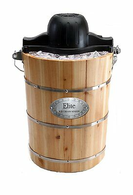 Ice Cream Maker Gourmet 6 Quart Old Fashioned Electric Manual Home Kitchen NEW