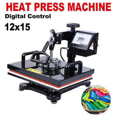 "12"" x 15"" T-Shirt Sublimation Transfer Heat Press Machine with LCD Display"