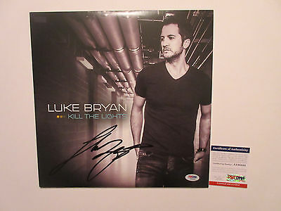Luke Bryan Signed Kill The Lights Vinyl Lp Record Psa/dna Coa Aa88450 Rare