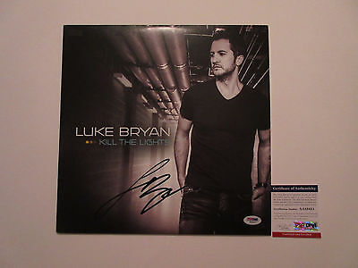 Luke Bryan Signed Kill The Lights Vinyl Lp Record Psa/dna Coa Aa88451 Rare