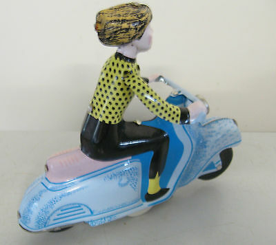 Scooter Girl Tin Wind Up Vintage Style Replica Model