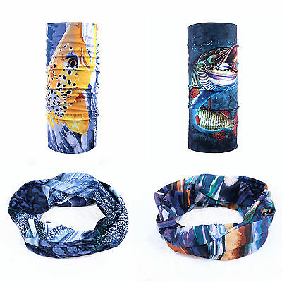 High UV Pro Buff Fishing scarf 3D Print Technology Fishing Pattern Headwear