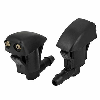 1 Pair Plastic Front Windshield Washer Sprayer Nozzle 85381-12050 Black SP