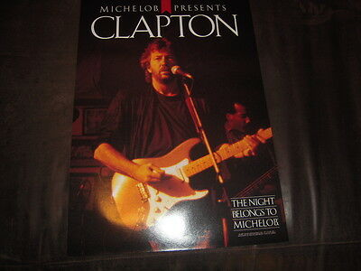 Eric Clapton vintage poster, Michelob presents, 1987 NEW OLD STOCK