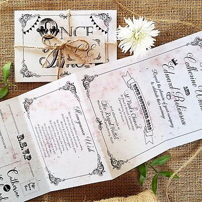 Personalised Wedding Invitations & Evening Invites - Story Vintage Handmade