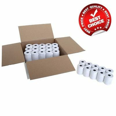 Box of 57x40 MM MACHINE TILL CREDIT CARD,PDQ THERMAL PAPER ROLLS (20 rolls Box)